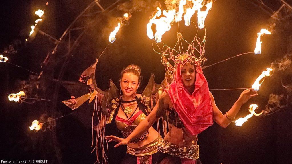 spectacle de feu danse de feu