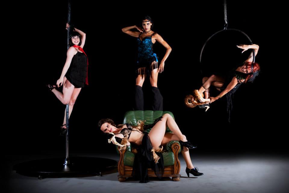 echassiere, snakeshow, cerceau aerien, poledance