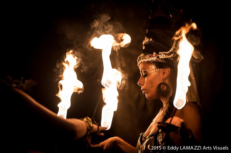 Spectacle de feu Danseuse de feu
