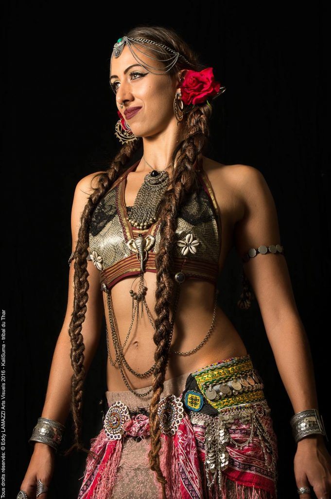 french tribal dancer